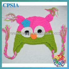 2014 Fancy Handmade Crochet Animal Baby Hats Caps 100 Wool Knitting winter Warm earflap Baby Beanie Hat