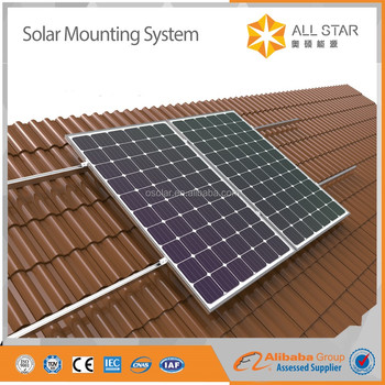solar roof tiles system mounting for home use