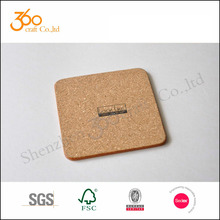 professional design heat resistance Cute cork wooden Coffee cup mat with 4C printing