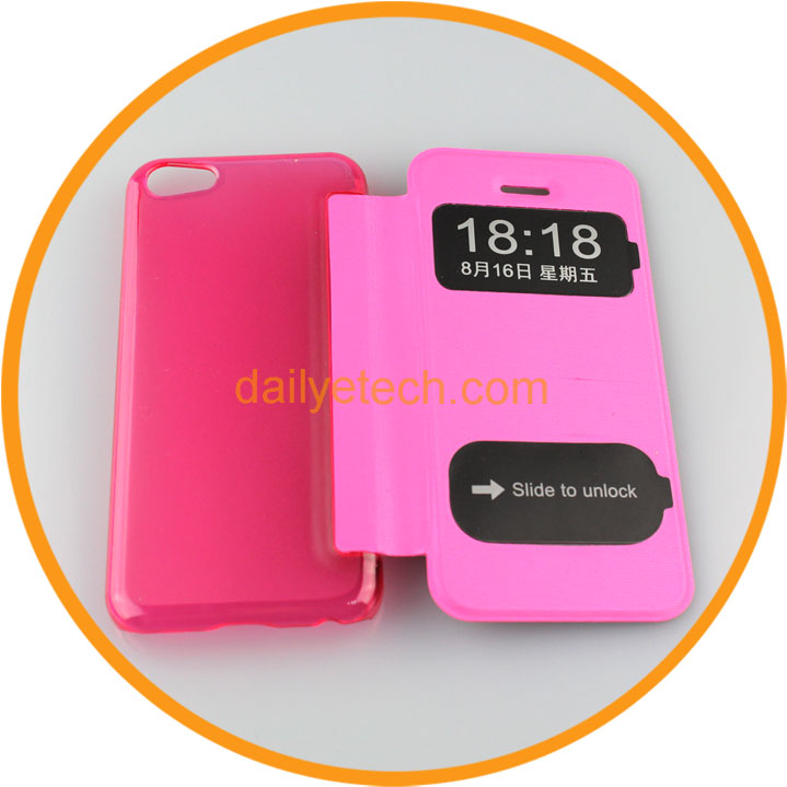 Flip PU Leather Case for iPhone5C from Dailyetech