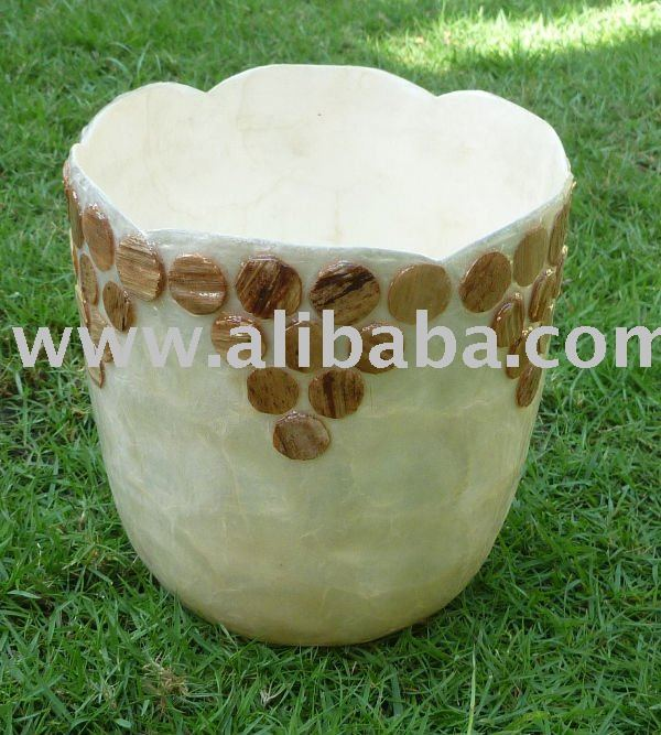Capiz Planter / Handmade Pot / Shell Planter