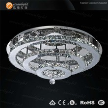 silver color led pendant lights modern style commercial crystal chandeliers om810