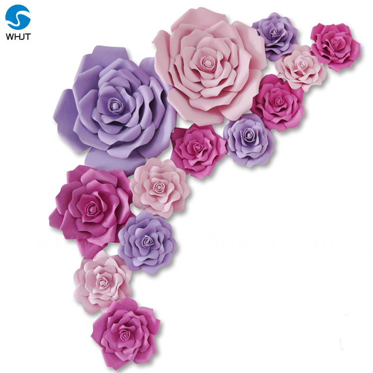 Beautiful handmade artificial foam paper flowers backdrops for anywhere decoration