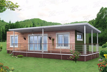Prefabricated luxury container house prices, Modern living house 2 units 40ft prefab shipping container house for sale
