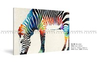 Canvas support bass zebra artwork painting wall decor oil painting for bedroom