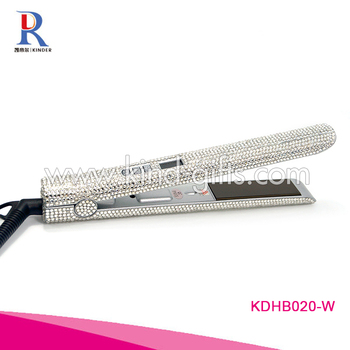 Sparkle Diamond Embellished Personalized Wired Hair Flat Iron Crystal Hair Straightener