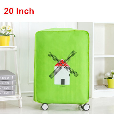 Multi-sizes Travel Suitcase Cover Waterproof Dustproof Luggage Trolley Case Protective Cover Green/Blue/Gray/Orange Optional
