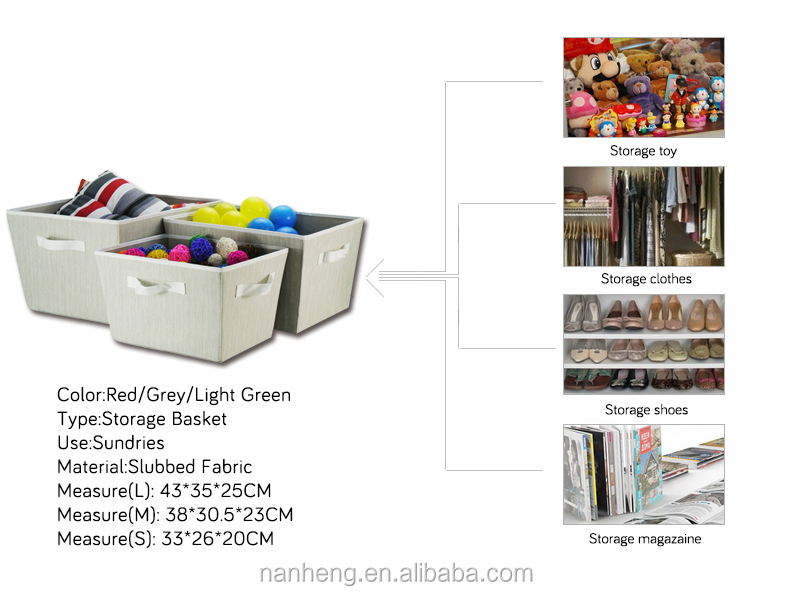 Naham Slubbed Fabric storage basket/sundries basket/laundry basket