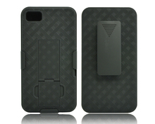Mobile Phone Hard plastic PC Weave Combo holster Case For Blackberry Z10 Cover with clip