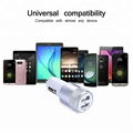 Multi port usb portable car battery charger 2.4a, 5V in-car GPS usb charger