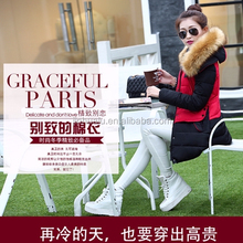 2015 new coming multicolor winter middle-long down feather slim thickening coat jackets for weman feamale
