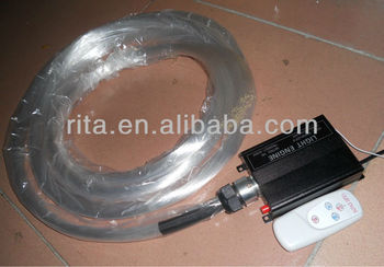 PS optical fiber kit;380fibers x 0.75mmx 5 meter long with Twinkle white 16W LED optical fiber engine