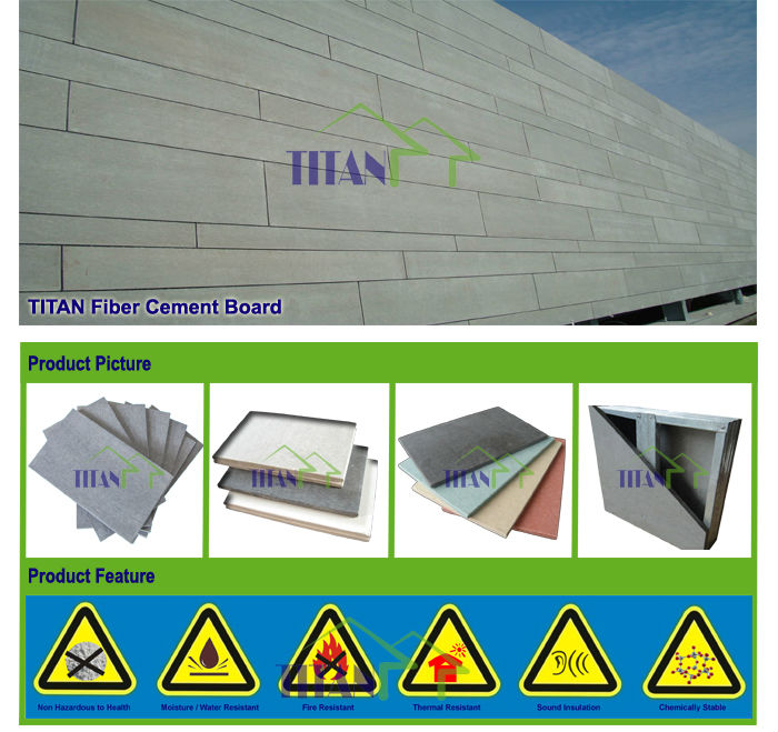 Grey Cement Board : Reinforced fire resistant mm grey cement fiber board