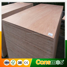 Linyi Consmos best price & good quality 12mm Bintangor commercial plywood for funiture and packing/construction