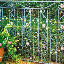 artistic metal fence decorative cast wrought iron balusters panel panels