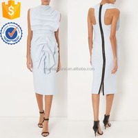 Light Blue Sleeveless Cocktail Dress OEM/ODM Women Apparel Clothing Garment Wholesaler Ropa Low Price