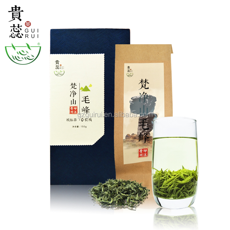 Wholesale high mountain pure nature health good slim mao feng green tea