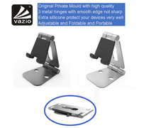 Universal aluminium metal adjustable flexible foldable portable desktop mobile cell phone mount display stand holder