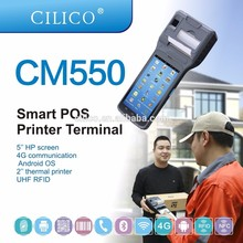 mobile phone PDA 4G handheld IOT computer with bluetooth,wifi,gps,pos printer mobile phone from cilico