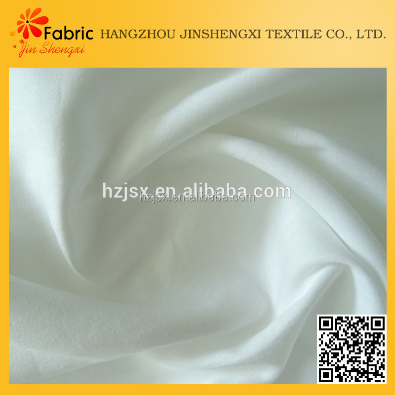 SA1080 Plain white 100% polyester satin for bed sheets fabric