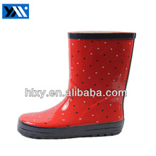 2014 new style short rubber boot garden shoe for lady with flower print