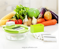 Multi Blades Stainless Steel Multi Kitchen Grater Manual Vegetable Fruit Grater