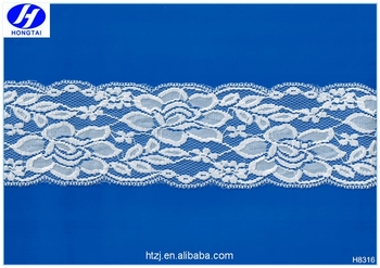 hot sell High quality nylon spandex bridal royal blue lace fabric for bra and underwear