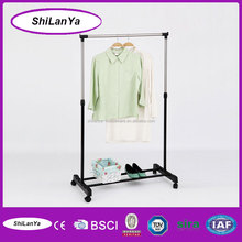 single-pole mobile hotel clothes rack