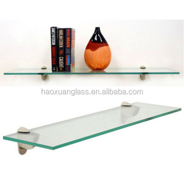 "12"" x 21"" Inch Clear Rectangle Floating Tempered Glass"