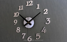 Metallic inlay rivets matte surface wall clock, European retro wall clock Creative DIY