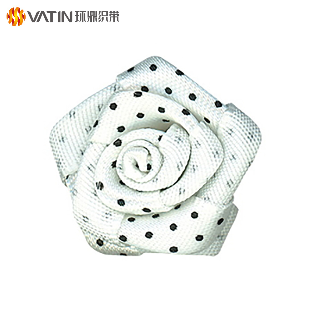 Wholesale Custom Competitive Price 5 / 8 Inch 16mm Single Face Polyester Printed Ribbon Rose Flower For Graduation Ceremony