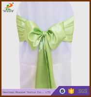 satin polyster multicolor banquet chair sashes, chair ties for wedding