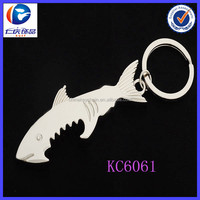 Metal Shark Shaped Bottle Opener key ring