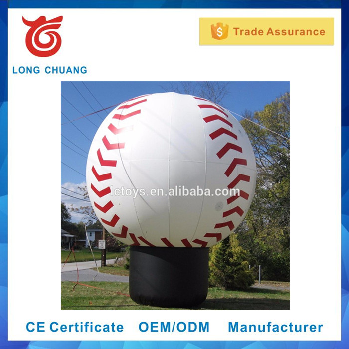 2017 Promotonal Factory price giant inflatable baseball model for advertising,inflatable baseball balloons for sale
