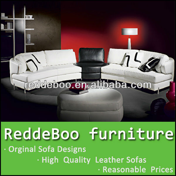 Modern Leather furniture sofa, big round sofa