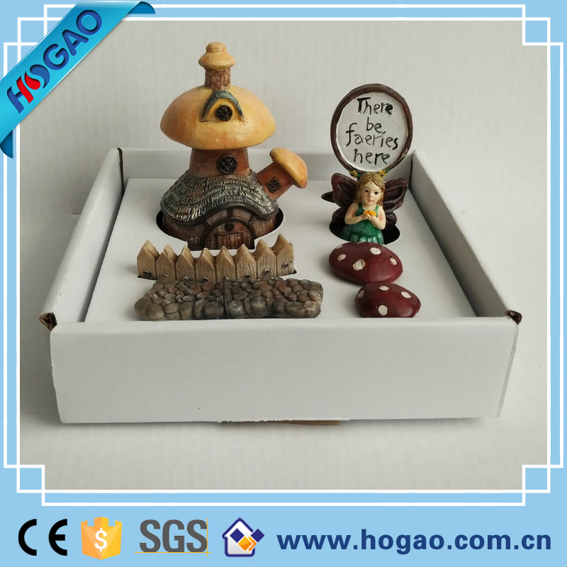 The whole set of resin garden fairy /house decoration for sale