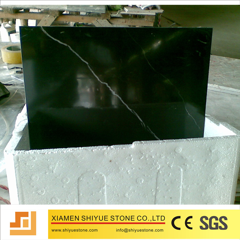 China want to sell cheap nero marquina marble tile paving