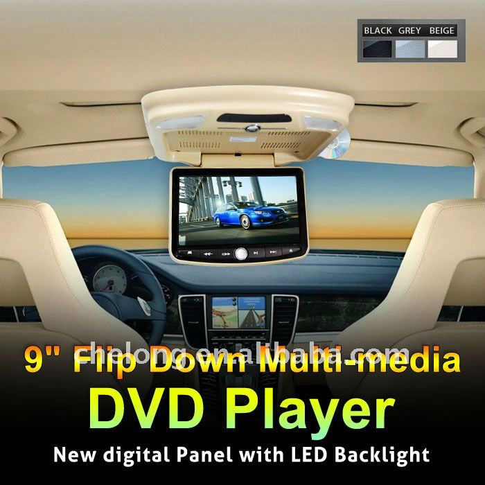 "china factory 9"" Multi-media digital Panel Flip down Portable Factory Made Auto Flip Down Dvd Player With Sd"