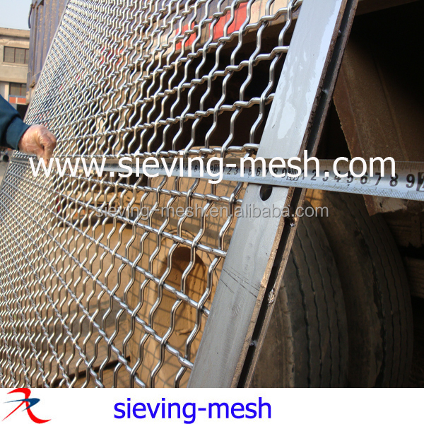 65MN vibrating sieve screen mesh for mining, catbon steel quarry sand gravel crusher mesh screens
