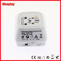 2014 Free Sample Safe Patent high-end travel adapter with wifi