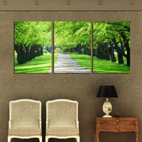 High quality 3 Piece Free Shipping Hot Sell Modern Wall Painting Realistic forest Home Decorative Art Picture on Canvas Prints