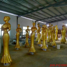 Wholesale Decoration Figure Sculpture statue With Paint Gold color