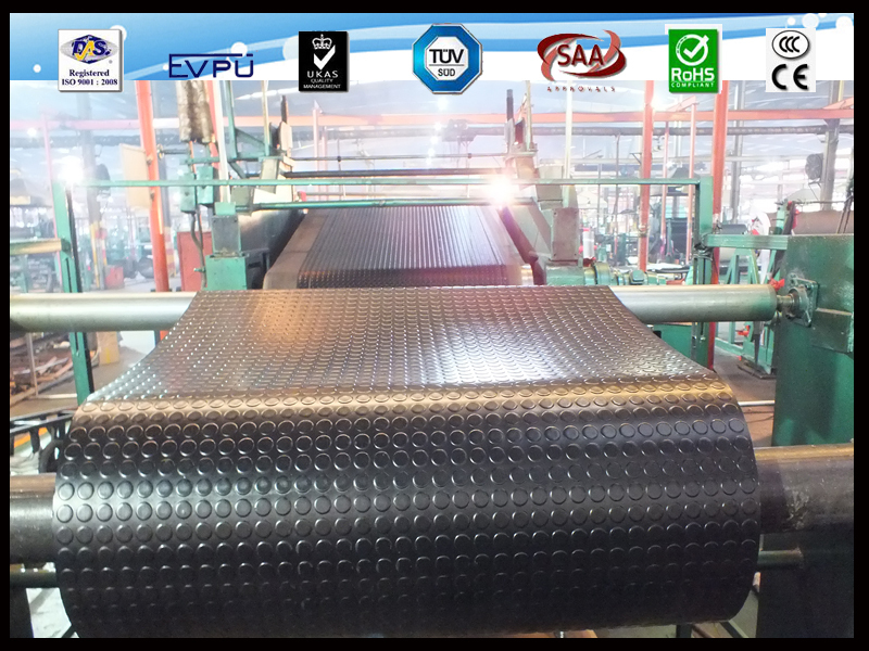 Great Wall Snake skin surface antislip round button SBR /NBR /EPDM rubber sheet stud rubber mat