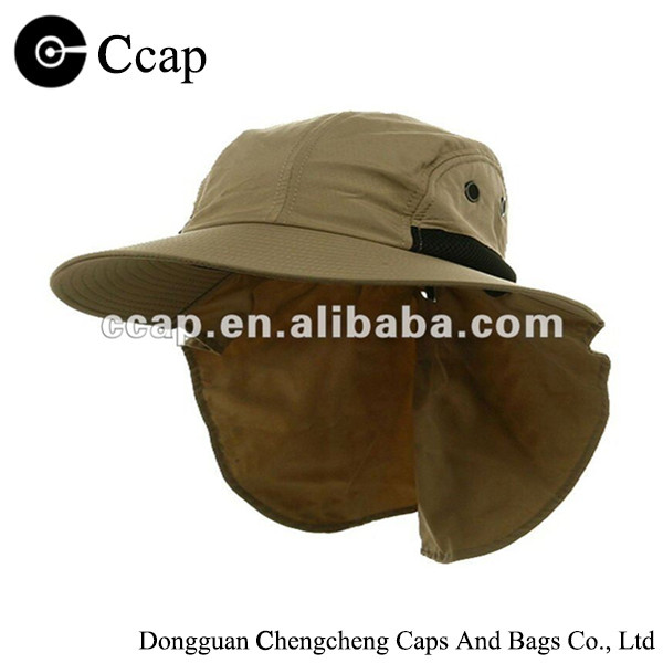Wholesale 4 panel large bill flap hunting hat