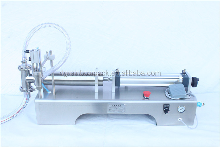 High accuracy semi automatic piston low price small bottle filling machine