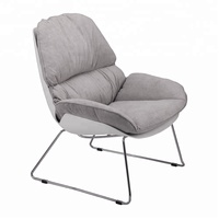 Morden Removable Fabric Cushion Metal Leg Rocking chair For Home Furniture