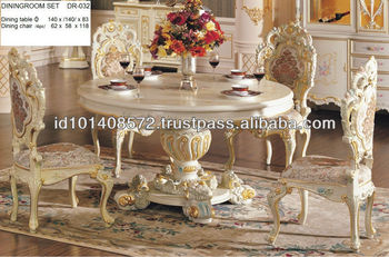 Mahogany Dining Room Round Table Minerva Set Classic Design Indoor Furniture