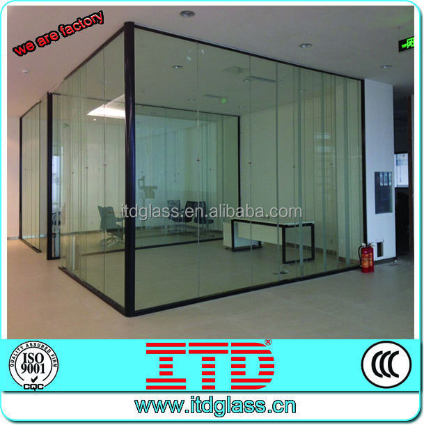 Itd high quality decorative accoustic tempered glass wall for Decorative tempered glass panels