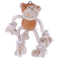 Hebei Factory Stuffed Rope Monkey Soft Toys for Dogs
