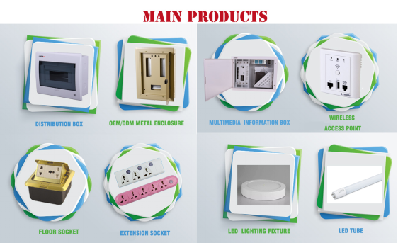 plastic multifunctional information box outlet box